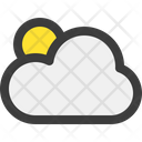 Weather Cloud Sun Icon