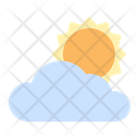 Cloudy Sun Cloud Icon