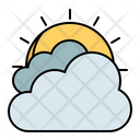 Sun Cloudy Thick Icon