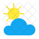 Cloud Sun Atmosphere Climate Increasing Clouds Weather Forecast Icon