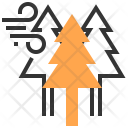 Cloudy Tree Wind Icon