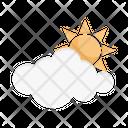 Cloudy Sun Summer Icon
