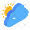 Sun Cloudy Cloudy Weather Icon