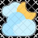 Cloudy Moon Night Icon