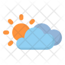 Cloudy Clouds Sun Icon