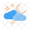 Cloudy With Moon Icon