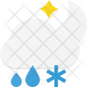 Snow Rain Cloud Icon