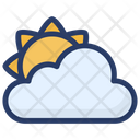 Cloudy Day Partly Cloud Sun And Cloud Icon