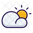 Cloudy Partly Weather Icon