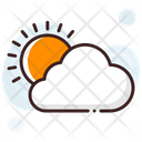 Cloudy Day Sunny Cloudy Sun Icon