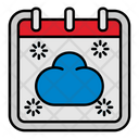 Cloud Weather Calendar Icon