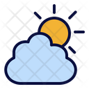 Cloudy Day Cloud Sun Icon