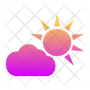Cloudy Day Sun Weather Icon