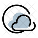 Cloudy Day Sunny Cloud Icon
