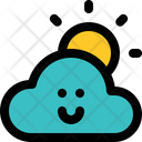 Cloudy Day Sunny Bright Icon