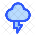 Cloudy Lightning Rain Icon