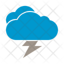 Cloudy Lightning Cloudy Cloud Icon
