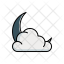 Cloudy Moon Icon