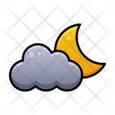 Cloudy Night Weather Sky Icon