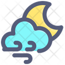 Night Cloudy Moon Icon