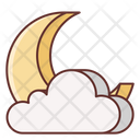 Cloudy Night Cloudy Moon Icon