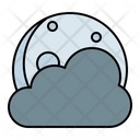 Moon Cloud Cloudy Icon
