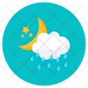 Cloudy Night Nighttime Night Sky Icon