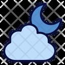 Cloudy Night Moon Night Icon