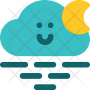 Cloudy Night Air Wind Icon