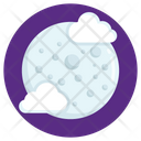 Cloudy Night Partly Cloud Nightfall Icon