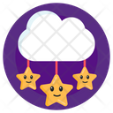 Cloudy Night Weather Partly Cloud Nightfall Icon