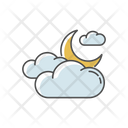 Cloudy Night Sky Icon