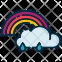Cloudy Rainbow Icon