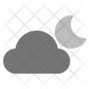 Weather Cloudy Moon Icon