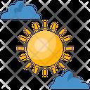 Cloudy Sun Weather Sun Icon