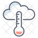 Weather Forecasting Forecasting Thermometer Cloudy Thermometer Icon