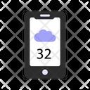 Cloudy Temperature Check Icon