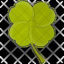 Clover Four Leaf Shamrock Icon