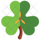 Leaf St Patrick Day Clover Icon
