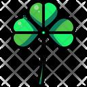 Clover Botanical Good Luck Icon
