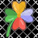 Casino Flower Clover Good Luck Flower Icon