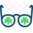 Clover Glasses Spectacles Icon