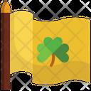 Flag St Patrick Day Shamrock Icon