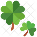 Clovers St Patrick Day Shamrock Icon