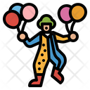 Clown Birthday Party Icon