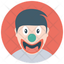 Character Clown Happy Clown Comic Joker Icon