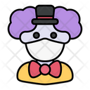 Clown Avatar Man Icon