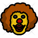 Clown Face Cartoon Icon