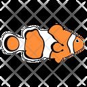 Clown Fish Ocean Sea Icon