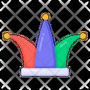 Clown Hat Jester Cap Headpiece Icon